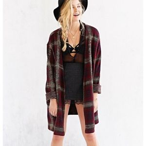 UNIF Plaid Nevermind Duster Cardigan